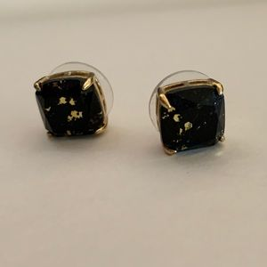 Kate Spade Speckled Black and Gold Studs